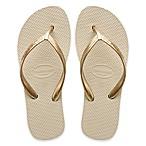 Havaianas® Size 9-10 High Light Women's Sandal in Beige