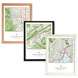 Your Home in the Center Framed Map