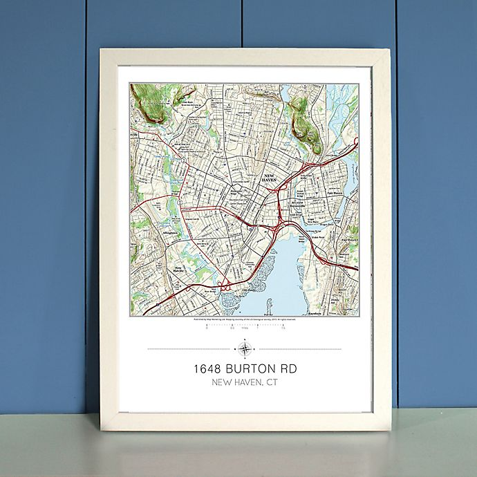 Alternate image 1 for Your Home in the Center Framed Map in Cream