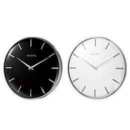 Bulova Metro II Satin Pewter Slim Line Wall Clock