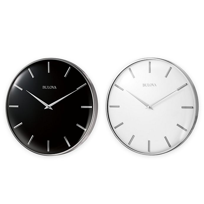 Bulova Metro Ii Satin Pewter Slim Line Wall Clock Bed