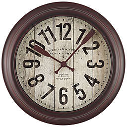 Sterling & Noble 10-Inch Lake House Wall Clock in Rustic Red