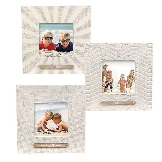 Alternate image 1 for Grasslands Road Sun Sand Sea Picture Frames (Set of 3)