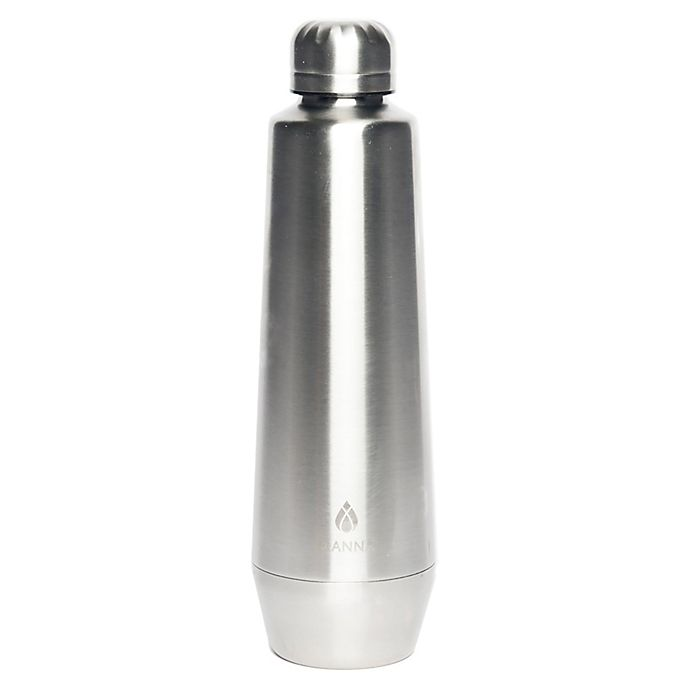Alternate image 1 for Manna™ Moda 18 oz. Metallic Water Bottle in Stainless Steel