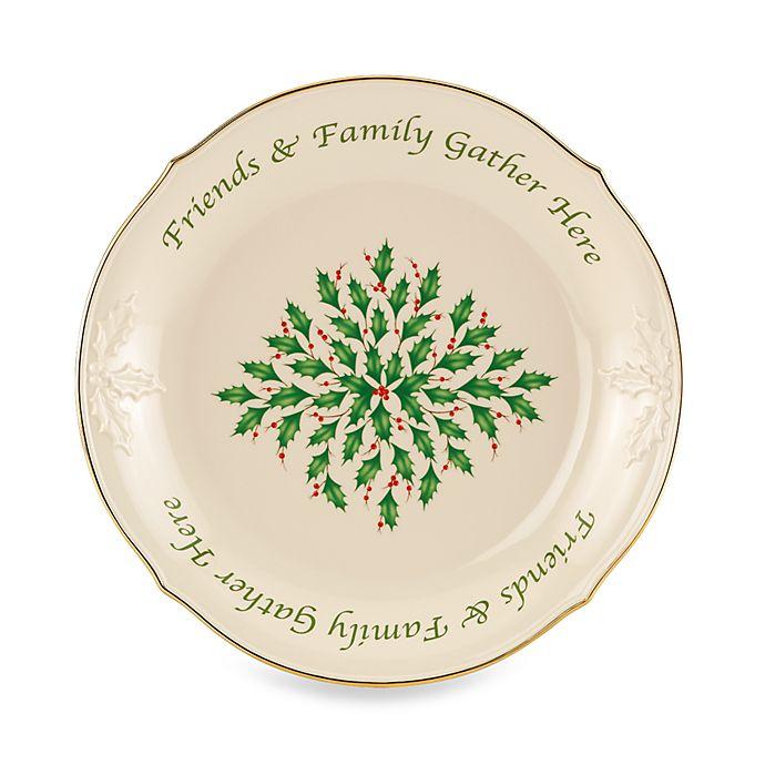 Lenox® Holiday™ Sentiment Dessert Platter   Bed Bath & Beyond