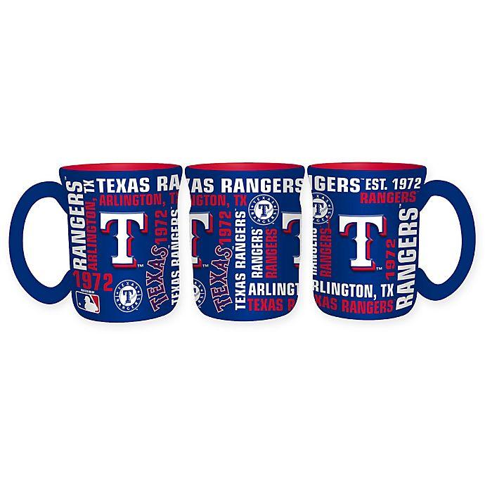 Alternate image 1 for MLB Texas Rangers 17 oz. Sculpted Spirit Mug