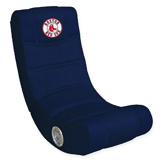 Swell Mlb Boston Red Sox Gaming Chair With Bluetooth Bed Bath Machost Co Dining Chair Design Ideas Machostcouk
