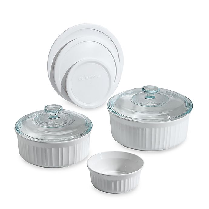Alternate image 1 for CorningWare® French White® 8-Piece Bakeware Set