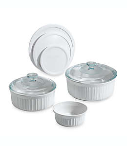 Set de moldes para hornear CorningWare® French White®, 8 piezas