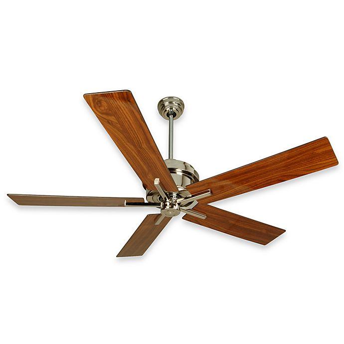 Alternate image 1 for Design Trends Grant Ceiling Fan in Polished Nickel