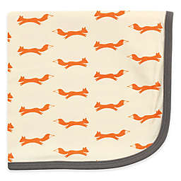Touched by Nature Fox Organic Cotton Knit Blanket in Orange