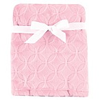 Hudson Baby® Circles Burnout Plush Blanket in Pink