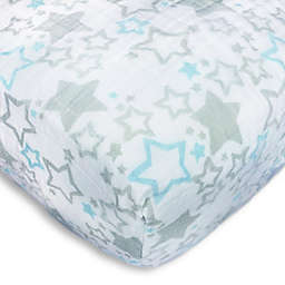 SwaddleDesigns® Starshine Muslin Fitted Crib Sheet