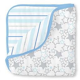 SwaddleDesigns® Starshine Muslin Luxe Blanket in Blue