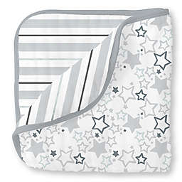 SwaddleDesigns® Starshine Muslin Luxe Blanket in Sterling