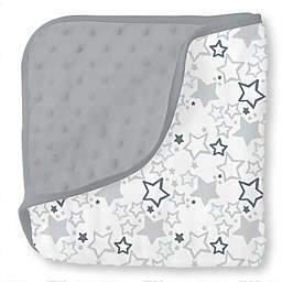 SwaddleDesigns® Starshine Shimmer Blanket in Grey