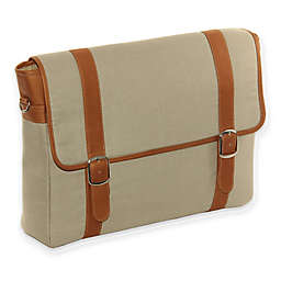 Piel® Leather 16-Inch Flap-Over Laptop/Tablet Portfolio in Saddle
