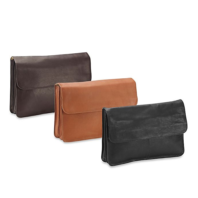 Alternate image 1 for Piel® Leather 3-Section Flap Portfolio