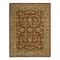 Nourison India House Hand Tufted Area Rug in Rust