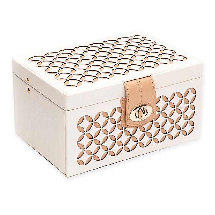 Alternate image 1 for Wolf Designs® Chloe Small Jewelry Box in Cream