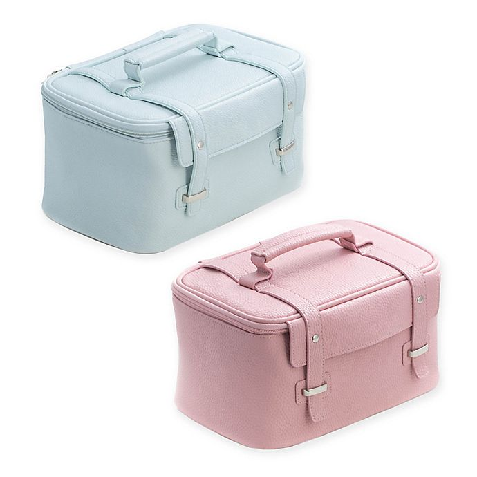 Alternate image 1 for Bey-Berk 4-Piece Leatherette Cosmetic Case