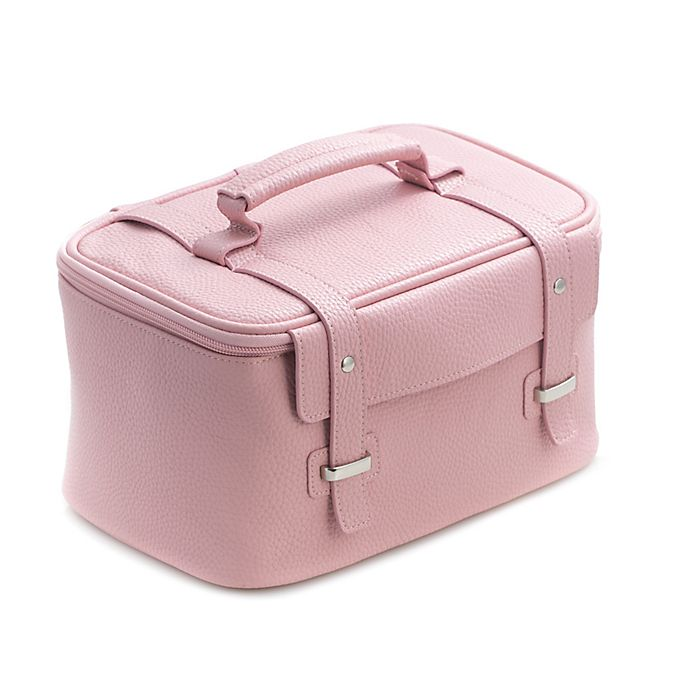 Alternate image 1 for Bey-Berk 4-Piece Leatherette Cosmetic Case in Pink