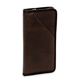 Piel® Leather Vintage Executive Travel Wallet in Brown