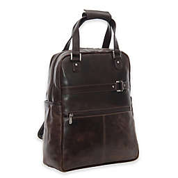 Piel® Leather 15-Inch Vintage Convertible Laptop Backpack in Vintage Brown