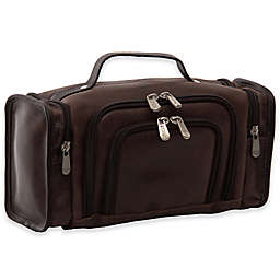 Piel® Leather 12-Inch Multi-Compartment Toiletry Kit in Vintage Brown