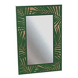 Grasslands Road Palm Leaf Tropical Mirror