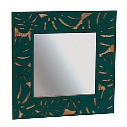 Grasslands Road Monstera Leaf Tropical Mirror