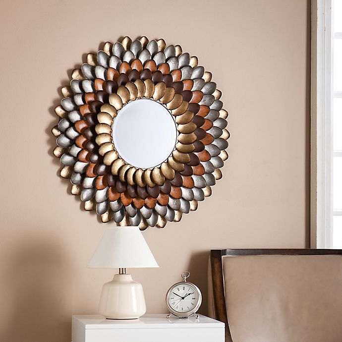 Southern Enterprises 31.75-Inch Round Decorative Mirror ...