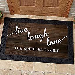 Live, Laugh, Love Door Mat