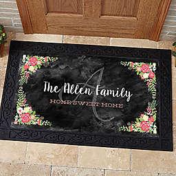 Posh Floral Welcome Door Mat