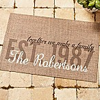 Together we Make a Family  20-Inch x 35-Inch Door Mat