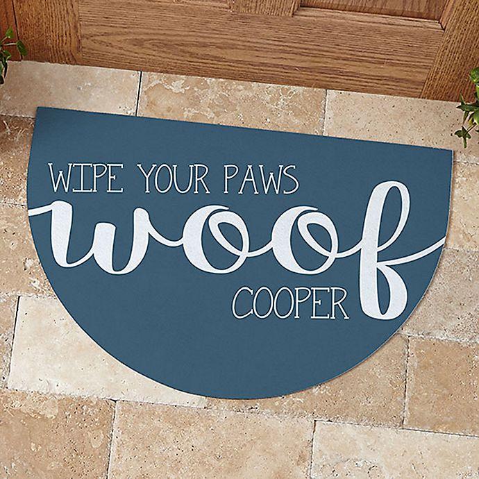 Alternate image 1 for Woof & Meow Half Round Doormat