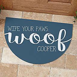 Woof & Meow Half Round Doormat