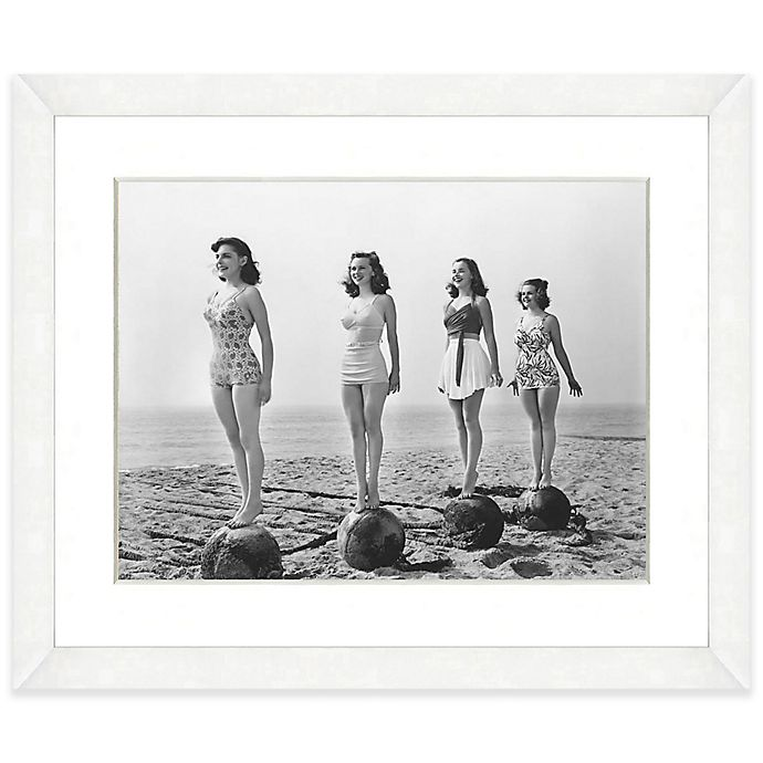 Alternate image 1 for Bathing Beauties Print I 22-Inch x 18-Inch Framed Wall Art