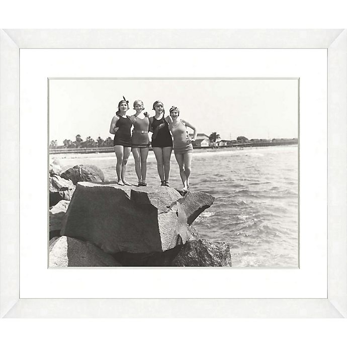 Alternate image 1 for Bathing Beauties Print IX 22-Inch x 18-Inch Framed Wall Art