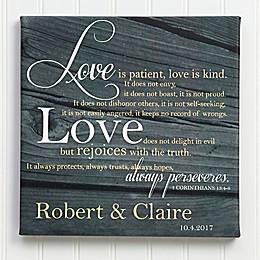 Love is Patient Canvas Print