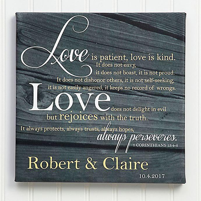 Love Is Patient Canvas Print Bed Bath Beyond