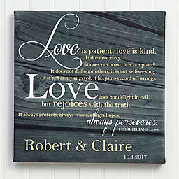 Love is Patient Canvas Print