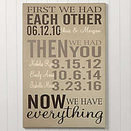 First Was Us Canvas Print Collection