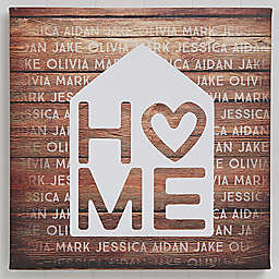 Home is Love Canvas Print