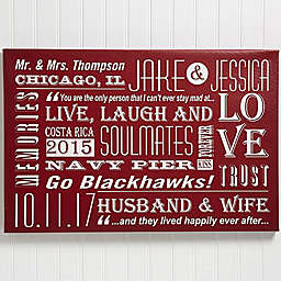 Our Life Together 16-Inch x 24-Inch Personalized Canvas Print