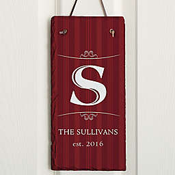 Elegant Monogram Vertical Slate Plaque