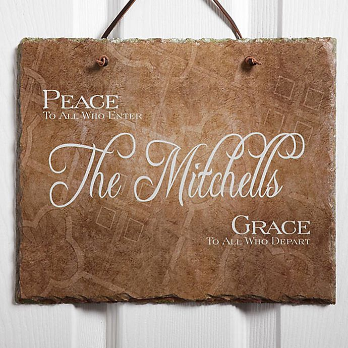 Alternate image 1 for Peaceful Welcome Slate Plaque