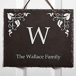 Scroll Leaf Slate Plaque