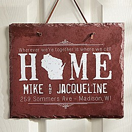 State of Love Slate Plaque