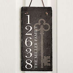 House Key Address Slate Plaque